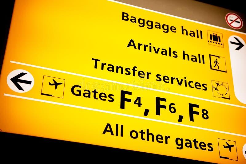 Flughafen-Zeichen lizenzfreie stockfotos