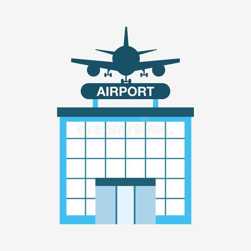 Flughafenabfertigungsgebäudedesign lizenzfreie abbildung
