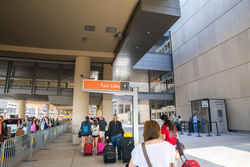 Flughafenanfang Las Vegass McCarran der Taxilinie lizenzfreie stockbilder