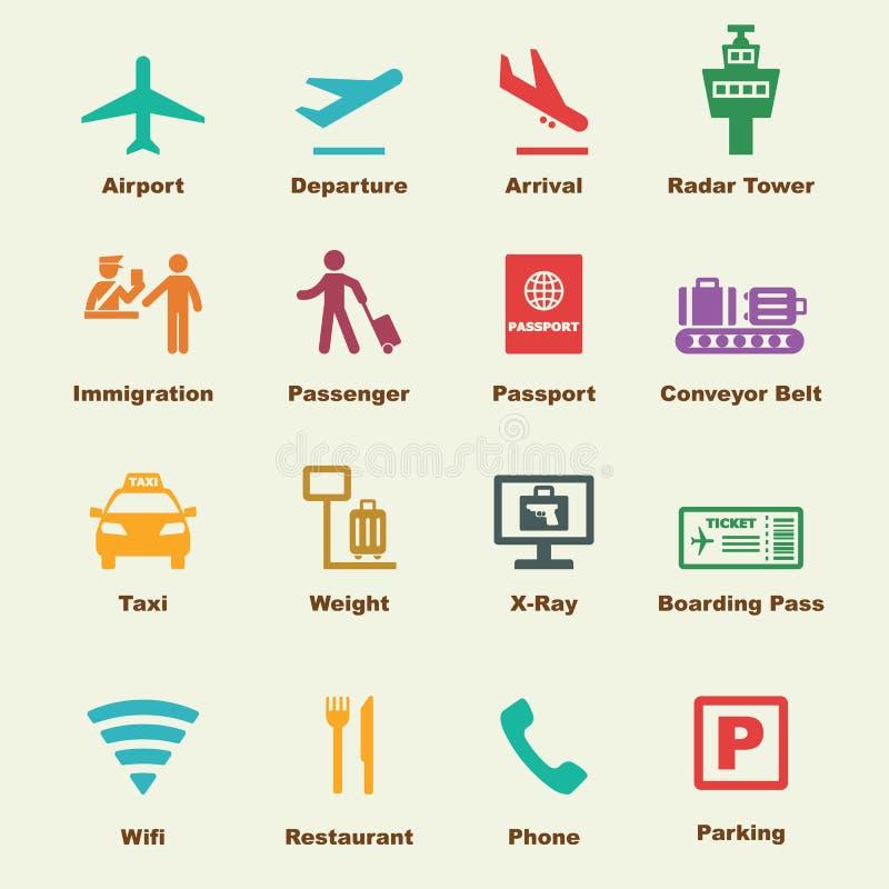 Flughafenelemente vektor abbildung