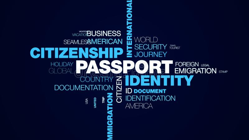 Flughafengewohnheitsabfahrt-Immigrationsbestimmungsort der Passidentit?tsstaatsb?rgerschaftsinternationalen grenze offizieller be stock abbildung