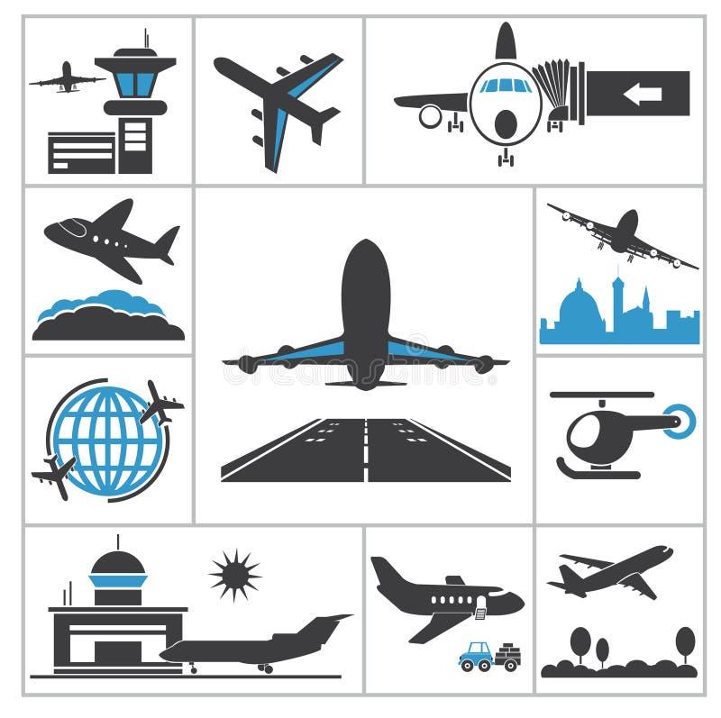 Flughafenikone vektor abbildung