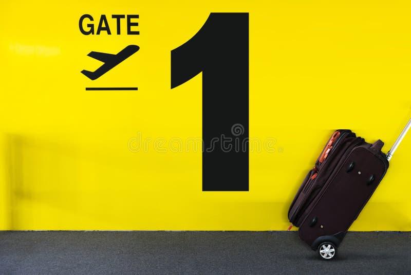 Flughafentorzeichen stockfotos