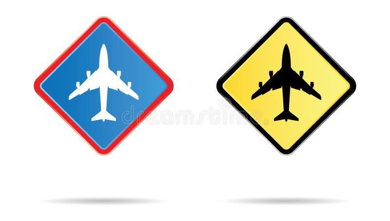 FlughafenVerkehrsschild stock abbildung