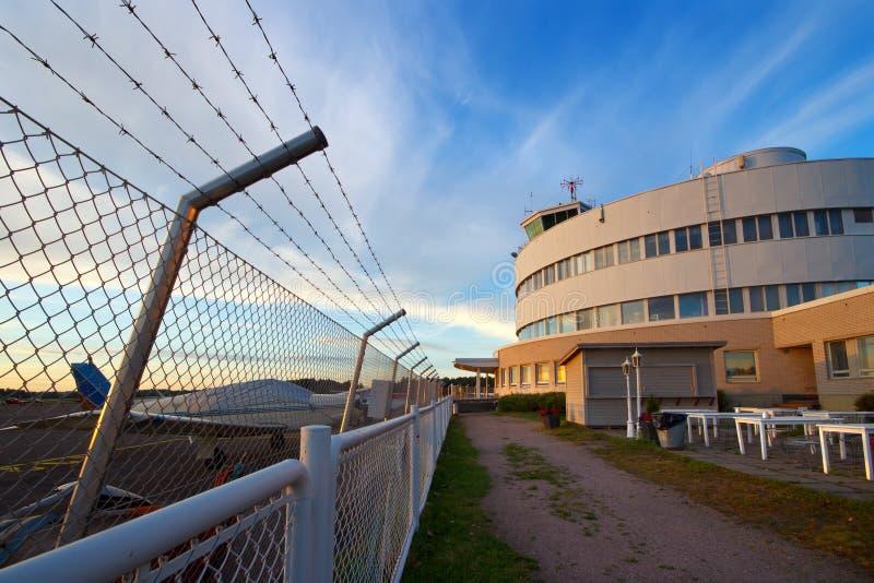 Flughafenzaun lizenzfreie stockfotografie