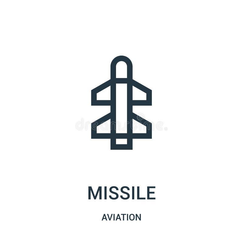 Flugikonenvektor von der Luftfahrtsammlung Dünne Linie Flugentwurfsikonen-Vektorillustration Lineares Symbol für Gebrauch auf Net lizenzfreie abbildung