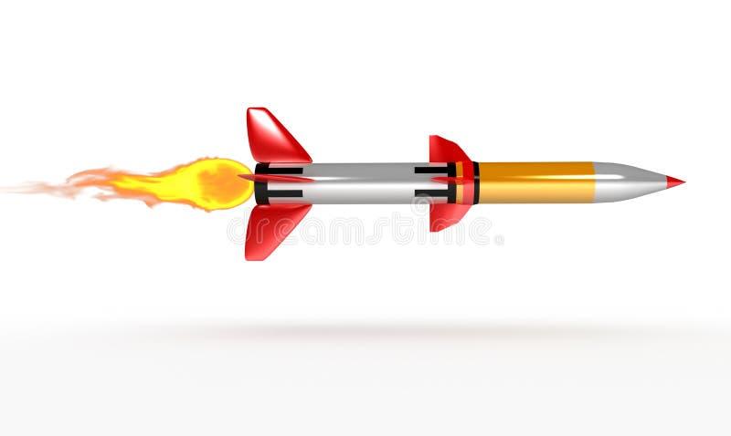 Flugkörper Rocket stockfotografie