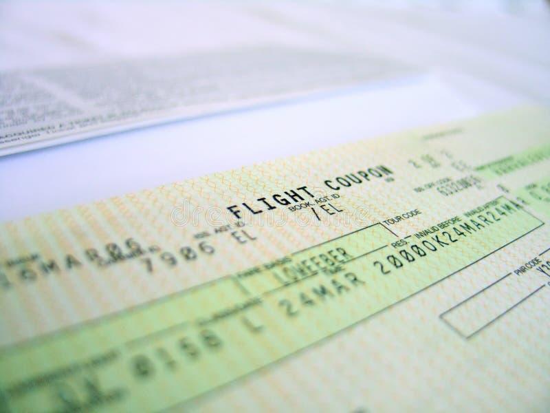 Flugkarte 1 stockfotos
