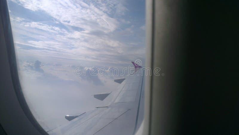 Flugreiseflugzeug lizenzfreie stockfotos