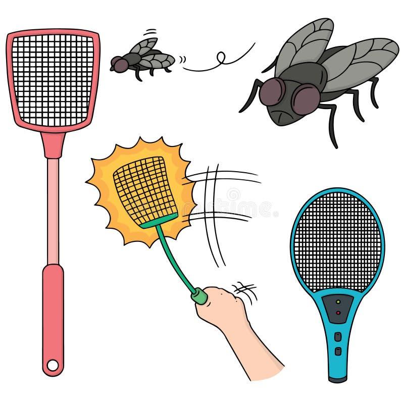 Flugsmälla och fluga royaltyfri illustrationer