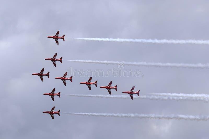 Flugveranstaltungs-Team stockbild