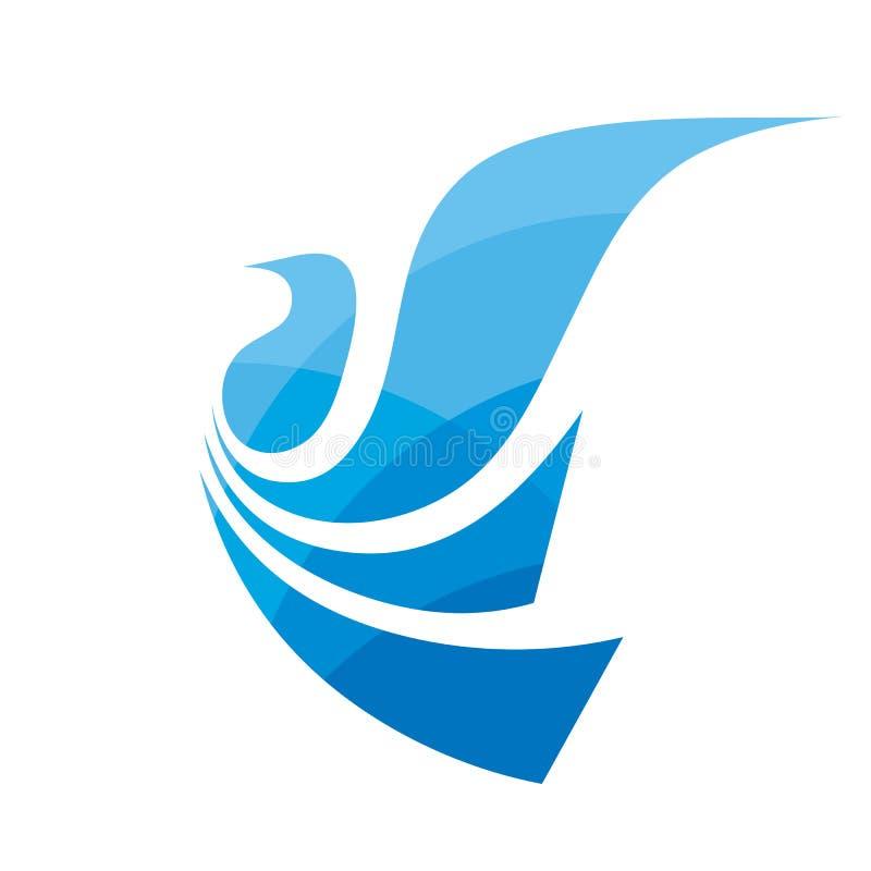 Flugvogel - Konzeptlogoschablonen-Vektorillustration Zusammenfassung beflügelt kreatives Zeichen Taubensymbol Element der grafisc stock abbildung