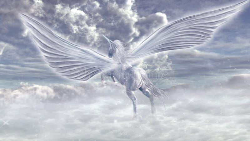 Flugwesen Pegasus vektor abbildung