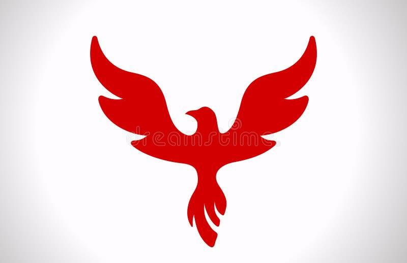Flugwesen-Vogelikone. stock abbildung