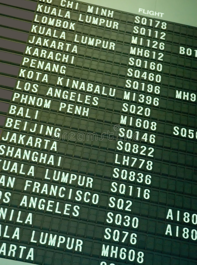 Flugzeitplan lizenzfreies stockbild