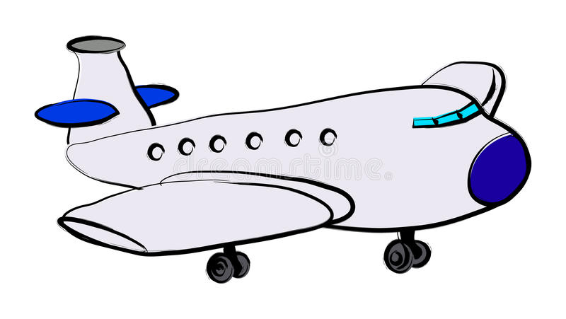 Flugzeug stock abbildung