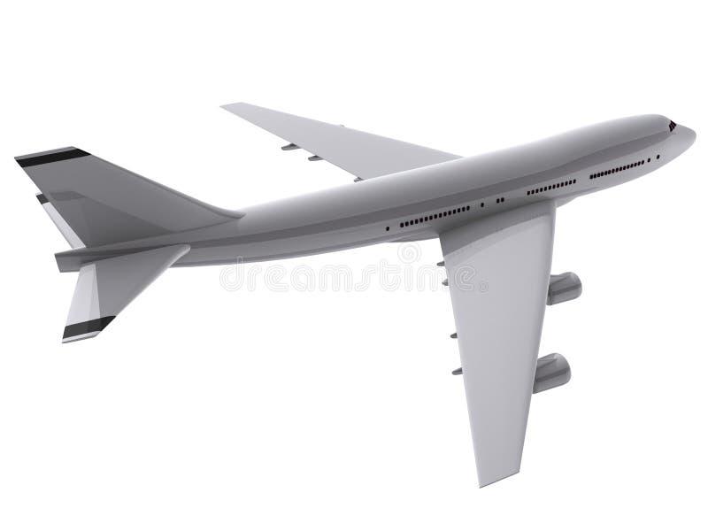 Flugzeug 3d lizenzfreie abbildung