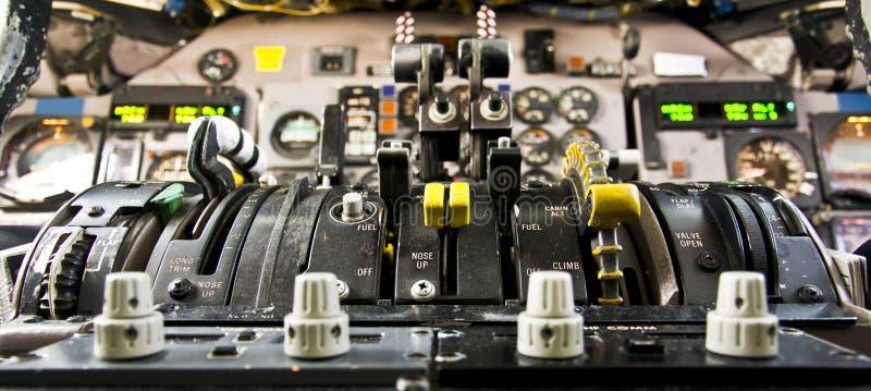 Flugzeug-Bedienpult stockfotos