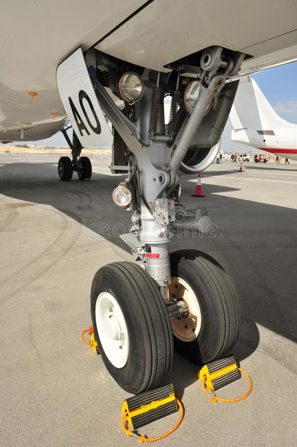 Flugzeug-Chassis lizenzfreies stockfoto