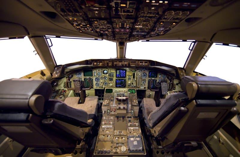 Flugzeug-Cockpit. stockfotos