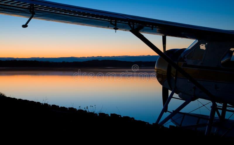 Flugzeug in dem See lizenzfreie stockfotos
