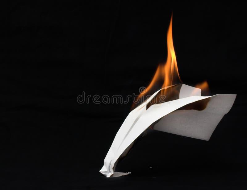 Flugzeug in den Flammen lizenzfreies stockfoto