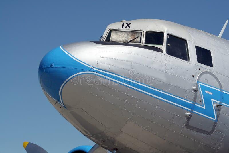 Flugzeug des Weinlesetransportes WW2 lizenzfreies stockfoto