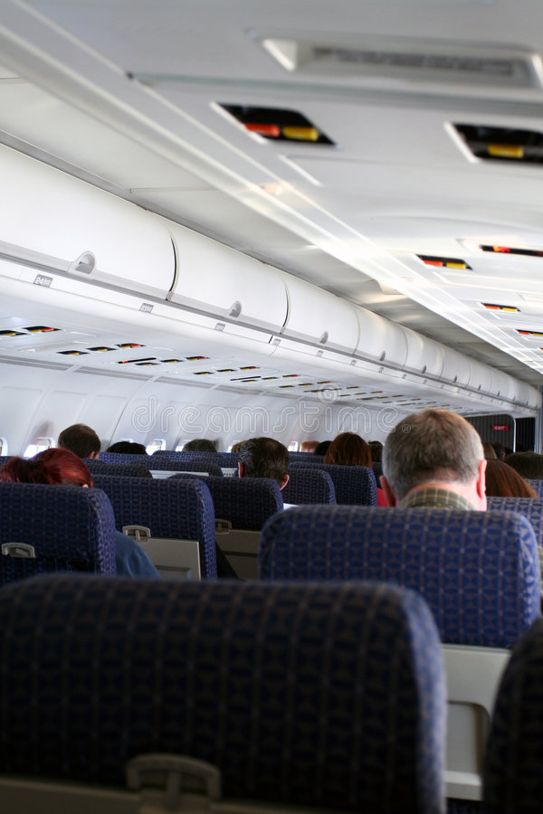 Flugzeug-Fluggäste lizenzfreies stockbild