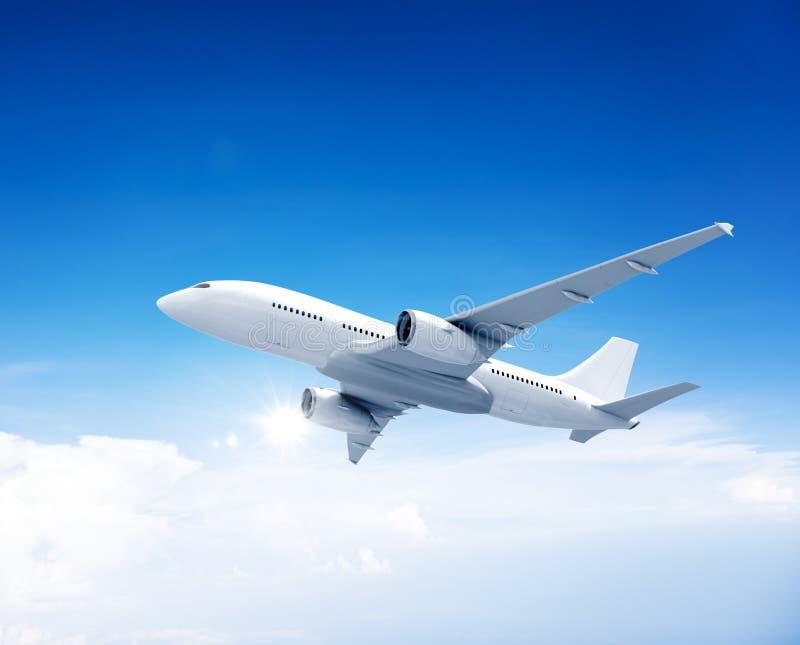 Flugzeug-Flugzeug-Reiseveranstalter-Transport-Konzept stockfoto