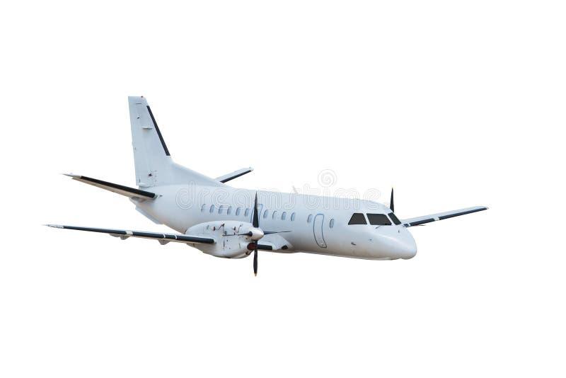 Flugzeug, getrennt auf weißem Hintergrund lizenzfreies stockbild