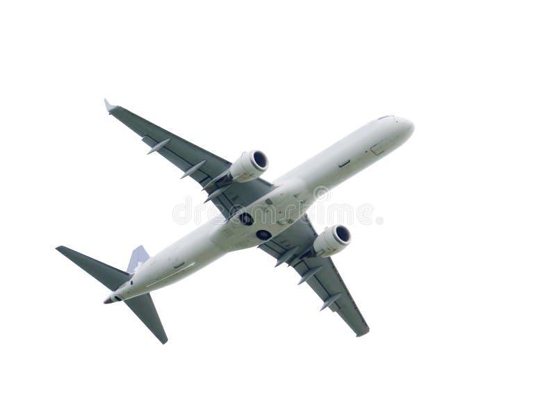 Flugzeug getrennt auf weißem Hintergrund stockfotos