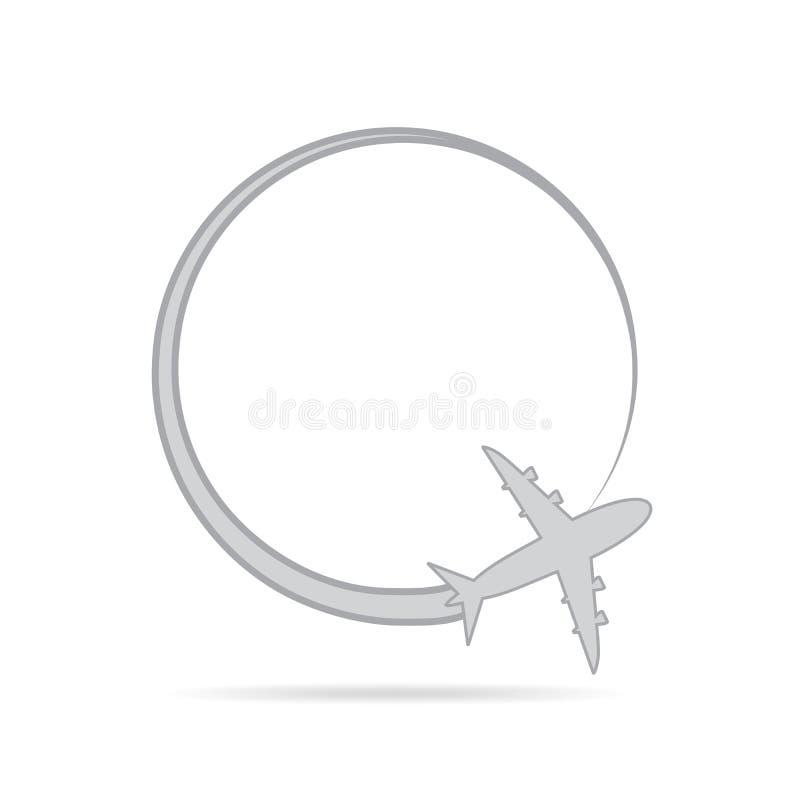 Flugzeug im Himmel Auch im corel abgehobenen Betrag vektor abbildung