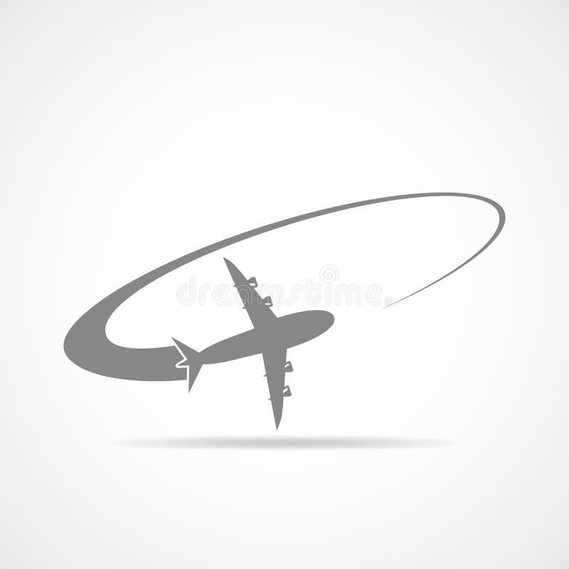 Flugzeug im Himmel Auch im corel abgehobenen Betrag stock abbildung