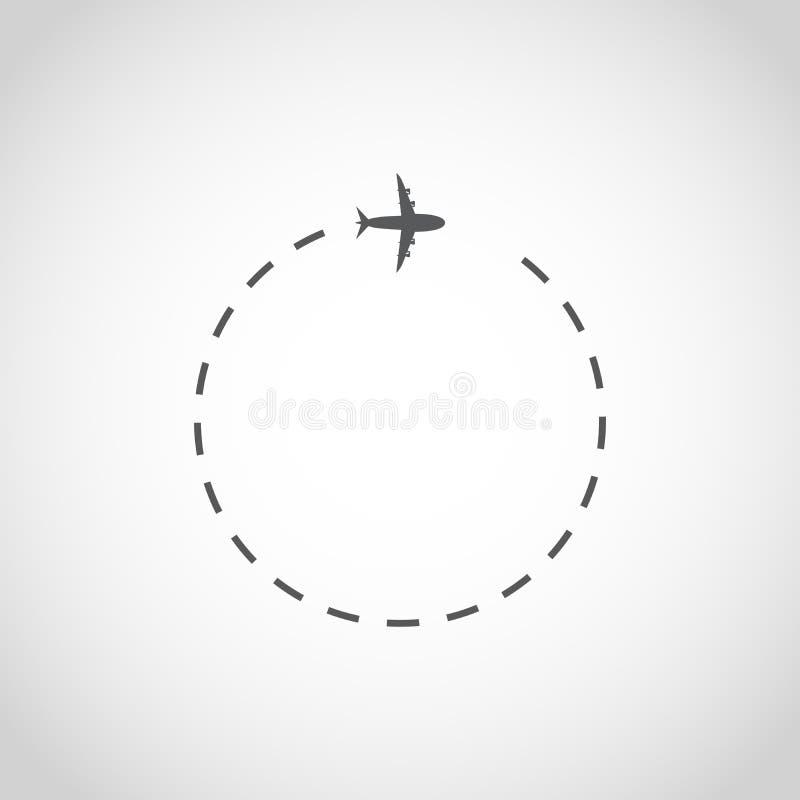 Flugzeug im Himmel Auch im corel abgehobenen Betrag lizenzfreie abbildung