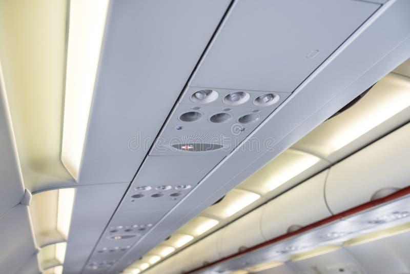 Flugzeug-Innenraum obenliegend lizenzfreies stockfoto