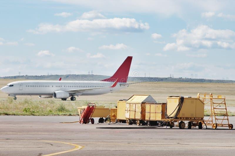 Flugzeug landete lizenzfreie stockfotos