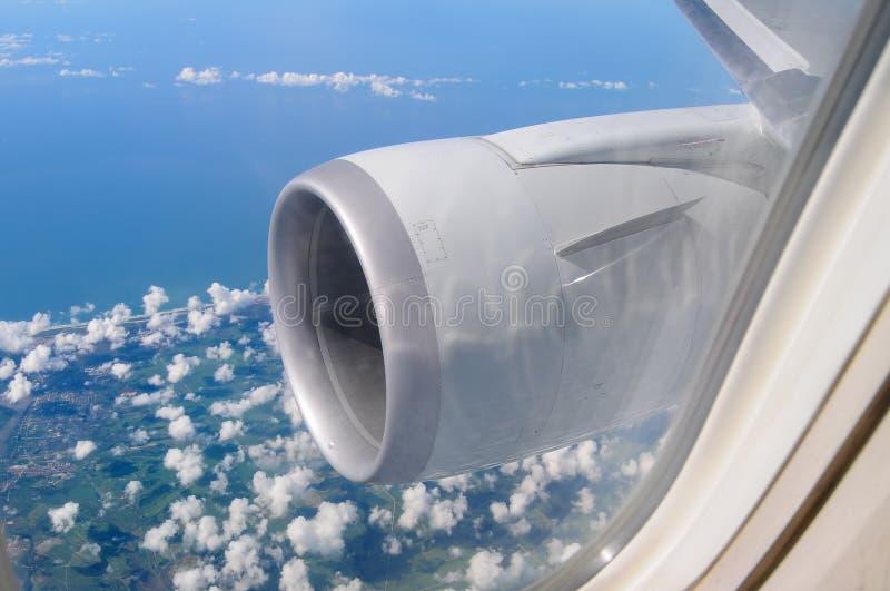 Flugzeug-Maschine lizenzfreies stockbild