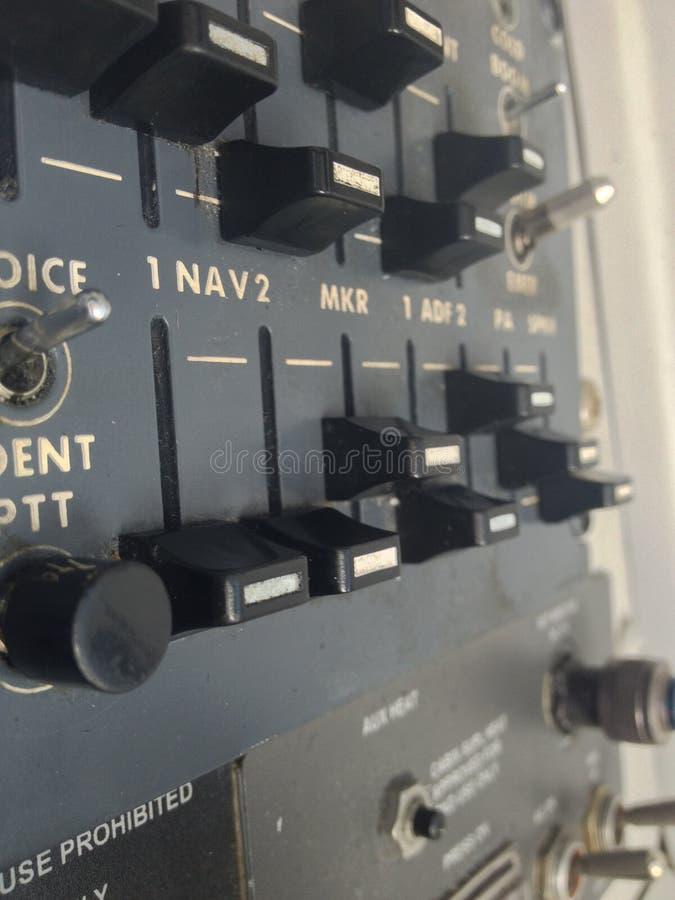 Flugzeug-Radioplatte stockbild