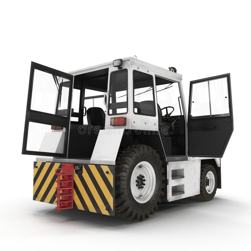 Flugzeug-Schleppen-Traktor auf Weiß Abbildung 3D vektor abbildung