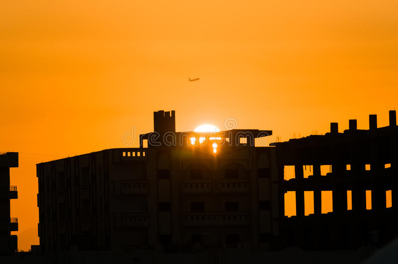 Flugzeug starten lizenzfreie stockfotografie