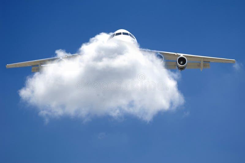 Flugzeug und Wolke lizenzfreies stockfoto