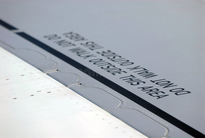Flugzeug-WARNING stockbild