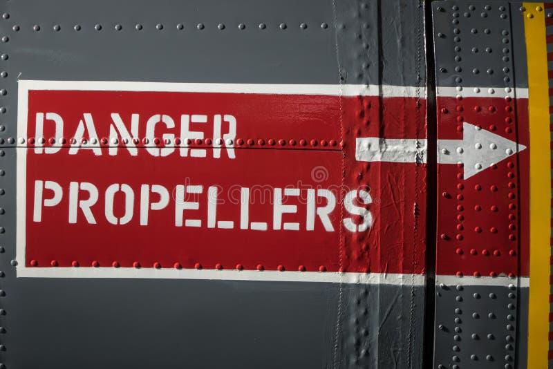 Flugzeug-Warnzeichen stockbild