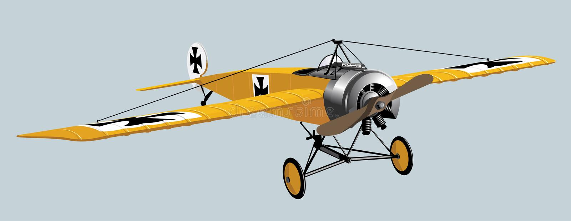 Flugzeug WWI lizenzfreie abbildung