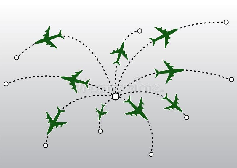Flugzeug zeichnet VEKTOR vektor abbildung