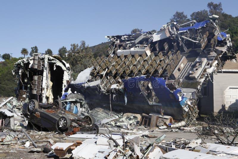 Flugzeugabsturz lizenzfreies stockfoto
