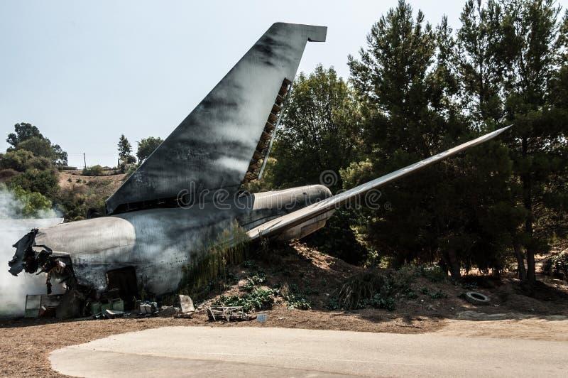 Flugzeugabsturz lizenzfreies stockbild