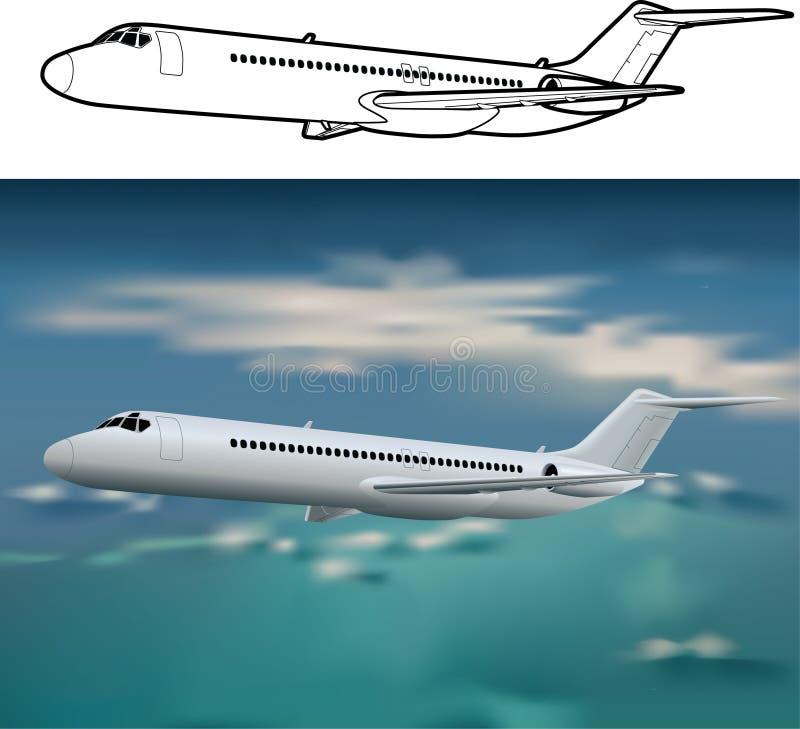 Flugzeuge DC-9 lizenzfreie stockfotografie