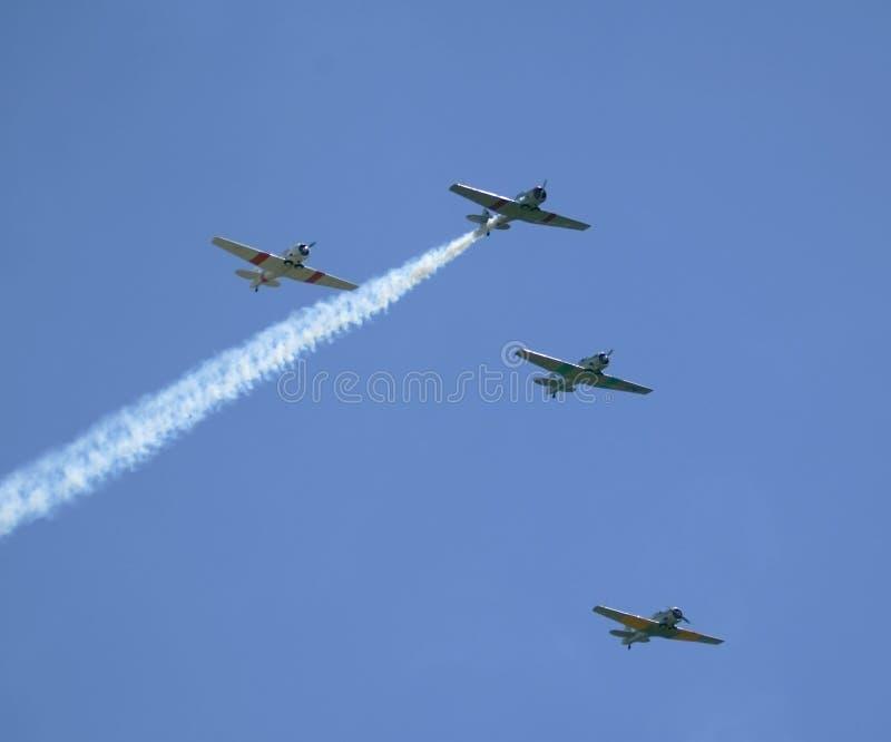 Flugzeuge in der Anordnung lizenzfreie stockfotografie