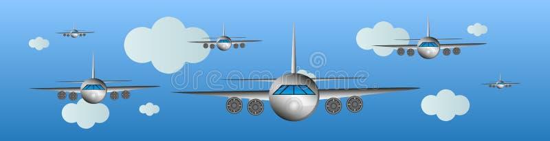 Flugzeuge in der Luft-Luft Show lizenzfreie abbildung
